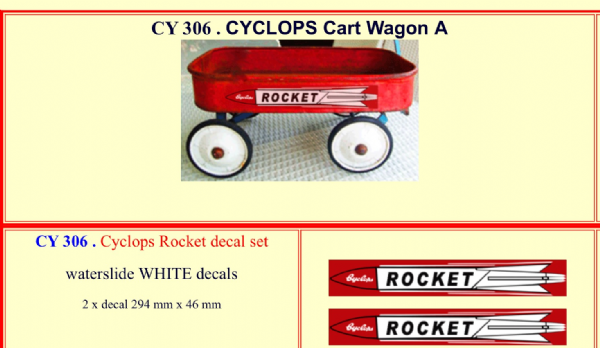 CY306 Cyclops Rocket decal set